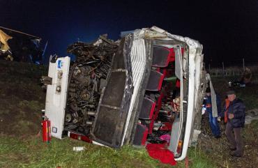 В Венгрии в украинский автобус врезался румынский камион: Есть пострадавшие